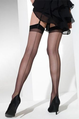 Seamed Stockings with Real Raised Seam and Point Heel